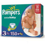 "Подгузники Pampers ""Active Baby"" 4-9кг 150шт 4015400265207"