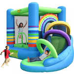 "Надувной батут Happy Hop ""Rainbow Bouncy Castle with Slide"" 9313"