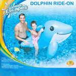 Summer Escapes Надувной дельфин с ручками 141х63 см AM-P33-0179