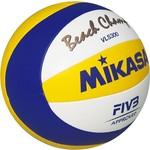 Купить Мяч для пляжного волейбола Mikasa VLS300 Beach Champ, размер 5, цвет бел-син-жел