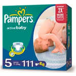 "Подгузники Pampers ""Active Baby"" 11-18кг 111шт Mega Pack 4015400265016"