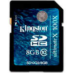 Kingston SD 8GB SDHC Class 10 G2 Ultimate 100X (SD10G2/8GB)