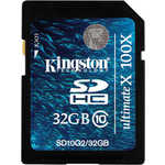 Kingston SD 32GB SDHC Class 10 G2 Ultimate 100X (SD10G2/32GB)