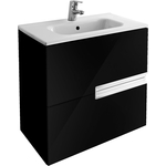 Купить Тумба с раковиной Roca Victoria Nord Black Edition 60 черный (ZRU9000096 + 32782100Y)