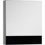 Купить Зеркальный шкаф Aquanet Верона 58 черный (камерино) (175384)