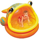 Бассейн Intex Lazy Fish с навесом 1-3 года 124х109х71 см 57109