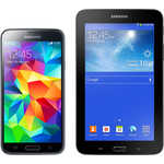 Смартфон Samsung Комплект Galaxy S5 SM-G900F 16Gb blue + Tab 3 Lite Wi-Fi black