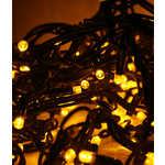 Light Светодиодная нить желтая 10 м чёрный провод