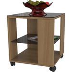 Купить Стол журнальный Мебелик BeautyStyle 6, бук/стекло темнокоричневое