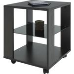 Купить Стол журнальный Мебелик BeautyStyle 6, венге/стекло черное