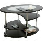 Калифорния мебель Эллипс со стеклом СЖС-01 венге