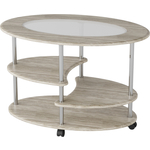 Калифорния мебель Эллипс со стеклом СЖС-01 дуб