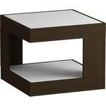 Купить Журнальный стол MetalDesign Смарт MD 746.02.11 корпус-венге/ стекло-белый