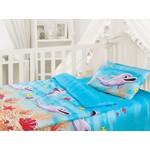 """Облачко """"Дельфин"""" в детскую кроватку с простынью на резинке (186903)"""