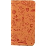 Чехол Ozaki O!coat Travel leather folio case with pocket for iPhone 6 Plus New York