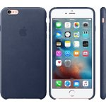 Чехол Apple iPhone 6-6s Leather Case Midnight Blue (MKXU2ZM/A)