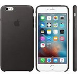 Чехол Apple iPhone 6-6s Leather Case Black (MKXW2ZM/A)