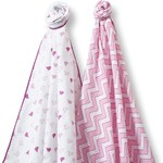 Набор пеленок SwaddleDesigns Swaddle Duo PK Chickies/Chevron (SD-470P)