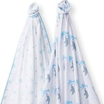 Набор пеленок SwaddleDesigns Swaddle Duo Blue Circus Fun (SD-494B)