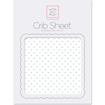 Детская простынь SwaddleDesigns Fitted Crib Sheet SeaCrystal Dot (SD-150SC)