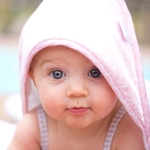 Полотенце с капюшоном SwaddleDesigns Полотенце с капюшоном Hooded Towel WH w/BL Mini Mod (SD-117PB)