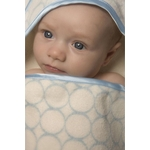 Полотенце с капюшоном SwaddleDesigns Полотенце с капюшоном Hooded Towel - Organic Blue Mod on IV (SD-071PB)