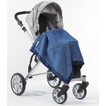 Детский плед SwaddleDesigns Stroller Blanket BluePuffCircles(SD-168B)
