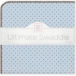 Купить Фланелевая пеленка SwaddleDesigns для новорожденного Blue w/BR Dot (SD-014PB)