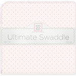 Фланелевая пеленка SwaddleDesigns для новорожденного Pink w/Pink Dot (SD-048PP)