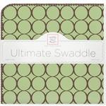 Купить Фланелевая пеленка SwaddleDesigns для новорожденного Lime w/BR Mod C (SD-016LM)
