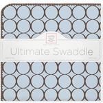 Купить Фланелевая пеленка SwaddleDesigns для новорожденного Blue w/BR Mod C (SD-016PB)