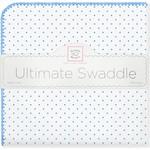 Купить Фланелевая пеленка SwaddleDesigns для новорожденного Bt. Blue Polka Dot (SD-001B)