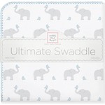 Фланелевая пеленка SwaddleDesigns для новорожденного PB Elephants/Chicks (SD-460PB)