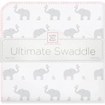 Фланелевая пеленка SwaddleDesigns для новорожденного PP Elephants/Chicks (SD-460PP)