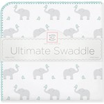 Фланелевая пеленка SwaddleDesigns для новорожденного SC Elephants/Chicks (SD-460SC)