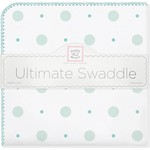 Фланелевая пеленка SwaddleDesigns для новорожденного SC Big Dot Lt Dot (SD-492SC)