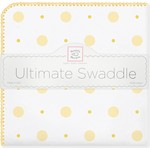 Фланелевая пеленка SwaddleDesigns для новорожденного YW Big Dot Lt Dot (SD-492Y)