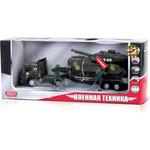 Купить Машинка Технопарк Трейлер военный с танком на прицепе (CT1061 (SL556/TANK))