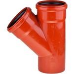 Купить Тройник Насхорн 110х110 45 градусов красный