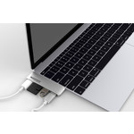 Коммутатор Promate USB для Macbook MacHub-12 Black Silver