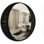Купить Зеркало Dubiel Vitrum с окантовкой чёрного цвета и кристаллами, 60х60 (УТ000000994)