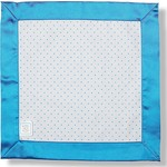 Комфортер SwaddleDesigns для новорожденных Baby Lovie - Flannel Bright Blue Dot (SD-009B)