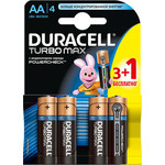Батарейка Duracell AA MN(MX)1500 Turbo (3+1шт)