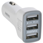 REMAX 3 Usb Car Charger 3.6A White (Z-P-002)
