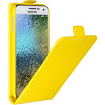 Флип-чехол skinBOX для Samsung Galaxy E5 Yellow (T-F-Sge5)