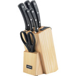 Купить Набор из 5 кухонных ножей, ножниц и блока для ножей с ножеточкой Nadoba Helga (723016)