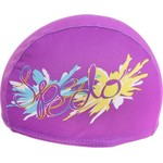 Шапочка для плавания Speedo Polyester Printed Cap Jr (фиолетовая)
