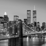 Фотообои W+G Manhattan Skyline at Night 8 частей 366 x 254 см (00138WG)