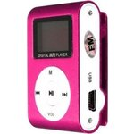 MP3 плеер Perfeo Music Clip Titanium Display fuchsia (VI-M001-Display Fuchsia)