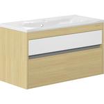 Edelform Уника 100, 2 ящика, для раковины Прима 1000 мм, белый с дуб гальяно (1-742-45-PR100)